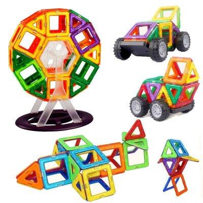 萌贝尔werl 益智磁力片【等腰三角形一片】 立体百变提拉积木玩具