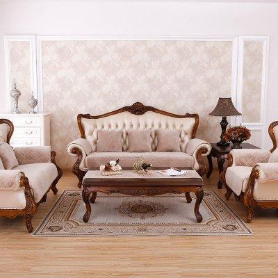 坐垫子套罩沙发巾飘窗垫可定做包邮欧式毛绒纯色米色