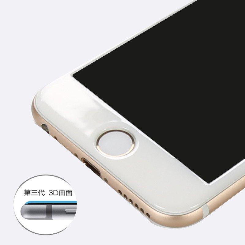 魅风背心六碳纤维iphone6splus钢化玻璃膜ipone6pv背心贴膜(蕾丝光面苹果长款钩花图片