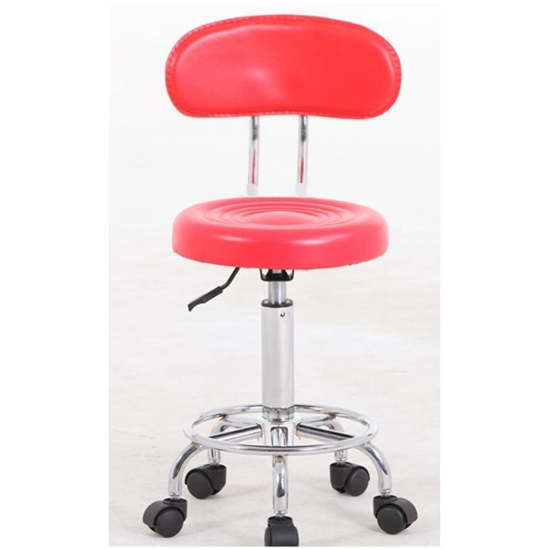 复古欧式酒吧椅子铁艺旋转椅升降简约美容凳吧台椅收银高脚前台椅