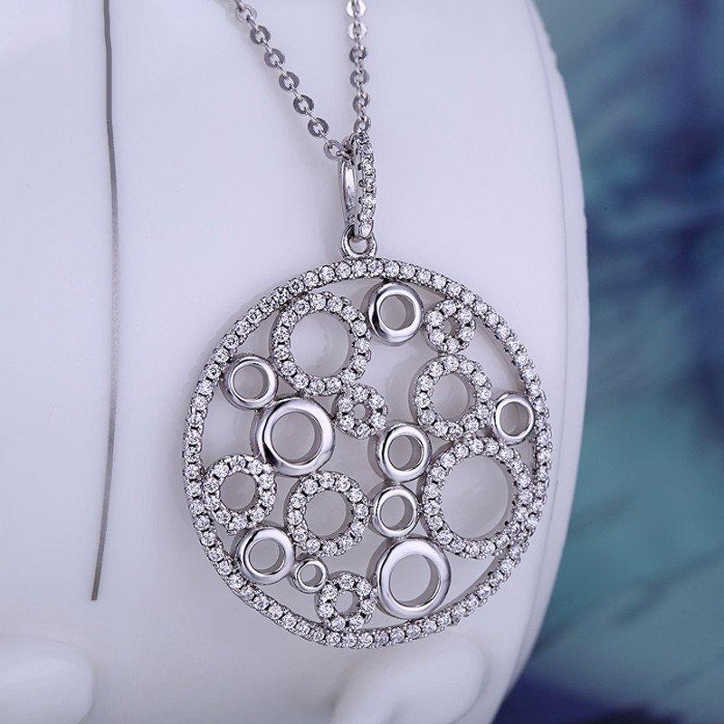 真爱时 女士吊坠 梦的世界女生项链 饰品 佩饰 银饰 圆形个性女生礼物
