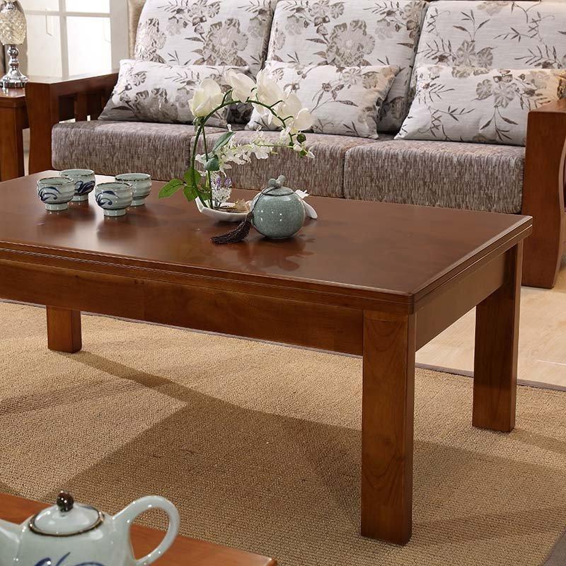 忆斧至家 实木沙发组合 搭配茶几五件套 进口橡木 中式实木 u型木质
