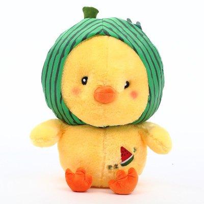 小黄鸭公仔毛绒玩具情侣布娃娃玩偶生日礼物女生 35cm 迪克牛仔男深
