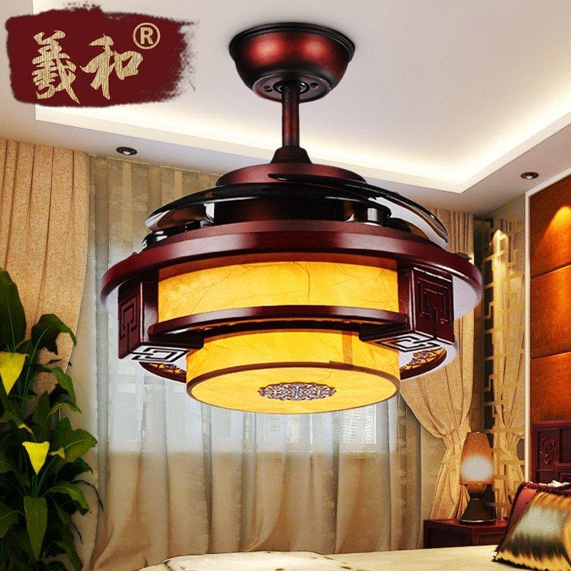 羲和吊扇灯新中式电风扇吊灯