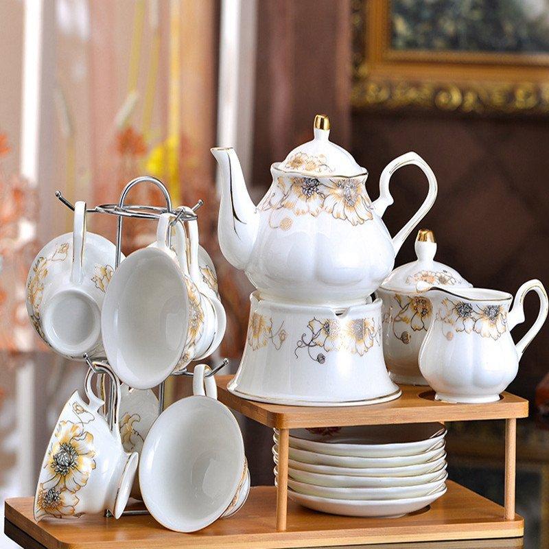 英式下午茶茶具整套 欧式茶具套装 简约咖啡杯套装骨瓷咖啡具陶瓷 11.图片