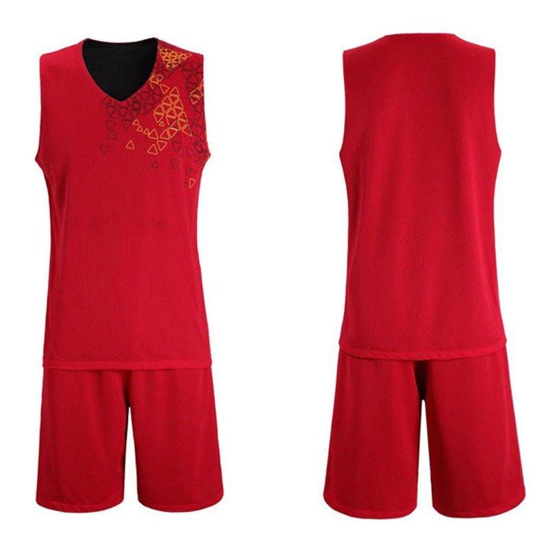 户外运动服装 篮球服套装 篮球服定做团购 l 黑红色图片