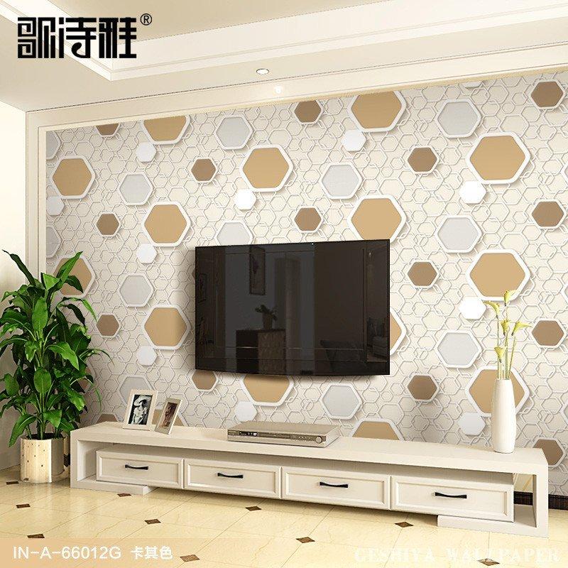 歌诗雅3d客厅电视背景墙壁纸