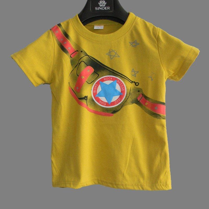 男童夏季短袖t恤宝宝儿童圆领体恤衫男孩夏装卡通衣服童装上衣 100cm