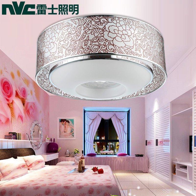雷士led吸顶灯圆形简约现代浪漫温馨主卧室灯艺术创意客厅灯具 esx