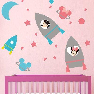 孩派 正品迪士尼卡通贴纸 儿童房背景装饰墙纸 可爱的