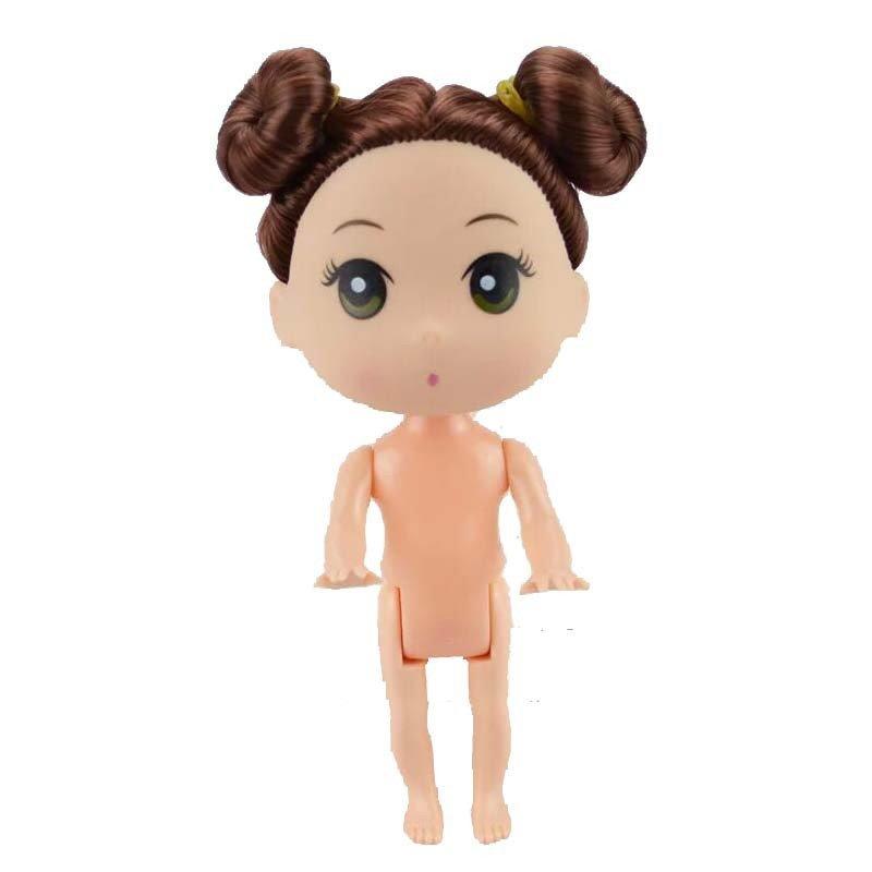 芭比娃娃迷糊娃娃12cm公主男孩男娃可爱儿手工素体装饰摆件泡泡浴裸娃