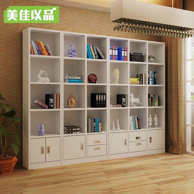美佳以品定制简约现代书柜玻璃门组合书柜酒柜隔断柜门厅展示柜子 a款