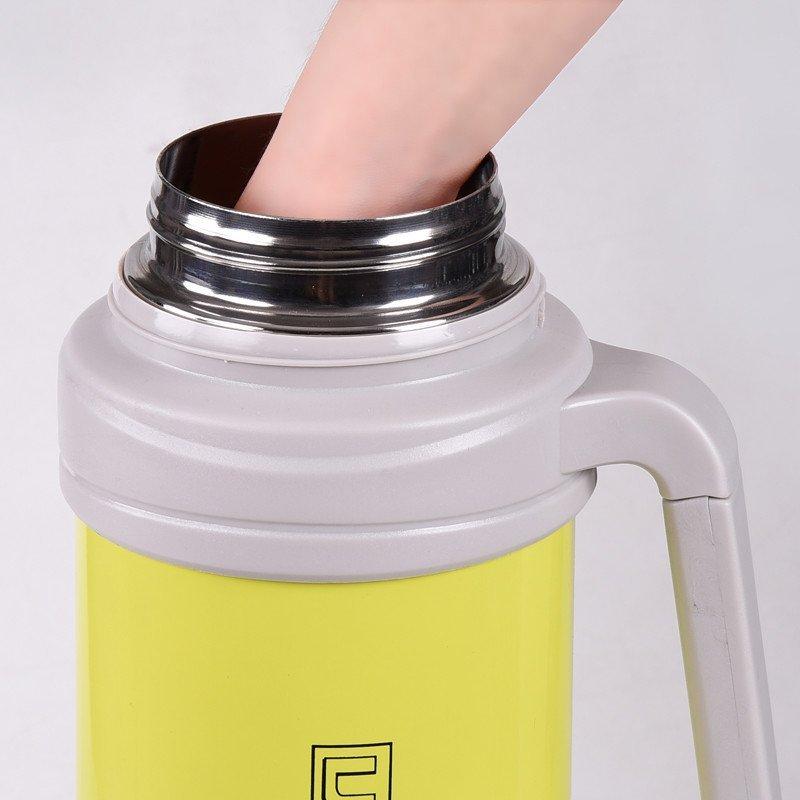 5升不锈钢保温杯真空户外3l旅游/行热水壶瓶4l 3l金色送六48小时保温