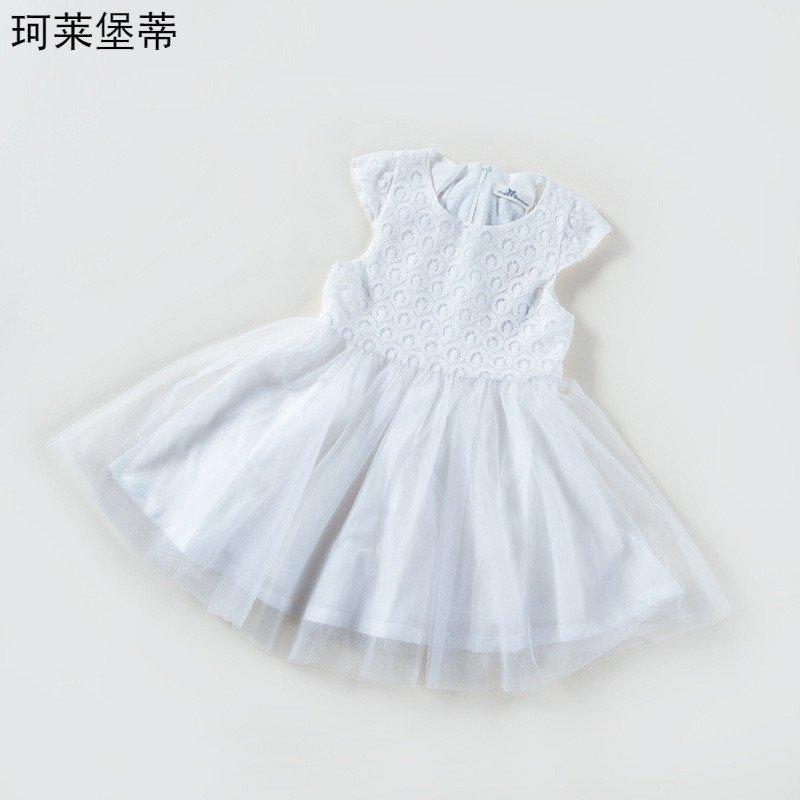 珂莱堡蒂 裙子2016新款花边儿童公主裙中大童花朵网纱裙子女童连衣裙