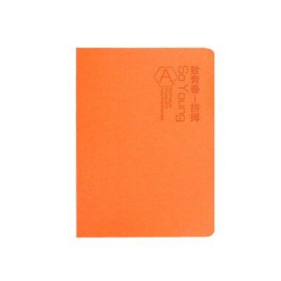 博文致青春学生本个性记事本日记本笔记本本子随身可定制logo 卡其色