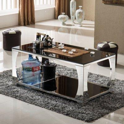 简约现代客厅办公家具钢化玻璃功夫茶几带电磁炉自动上水茶台茶具泡茶