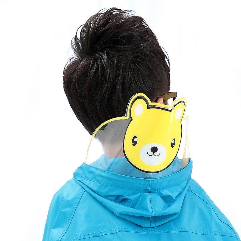儿童雨衣可爱韩国时尚小孩宝宝男童女童学生雨披卡通帽檐带书包位