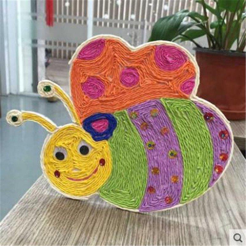00 diy手工材料 彩色纸藤 细纸绳 幼儿园编织纸绳 12.