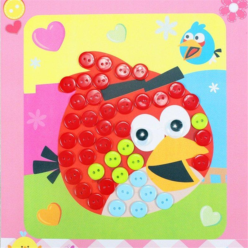众慧宝 diy纽扣画 儿童手工制作幼儿园粘贴画装饰画玩具 王子款 米奇