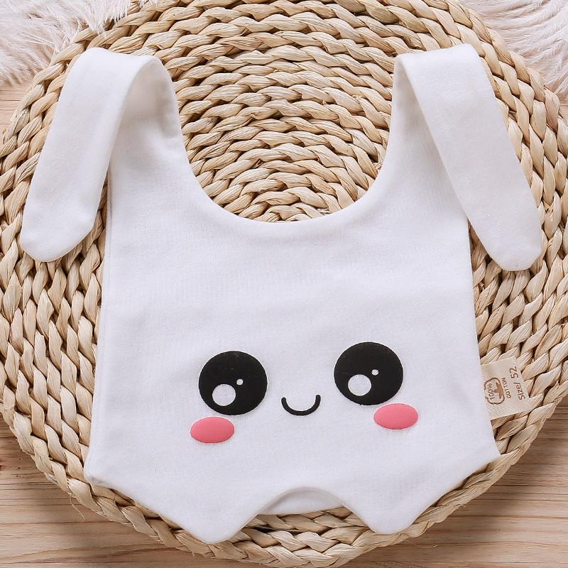 汉婗新生儿宝宝帽子 护眼帽 可爱兔耳朵帽 有机纯棉 多种戴法 遮眼睛