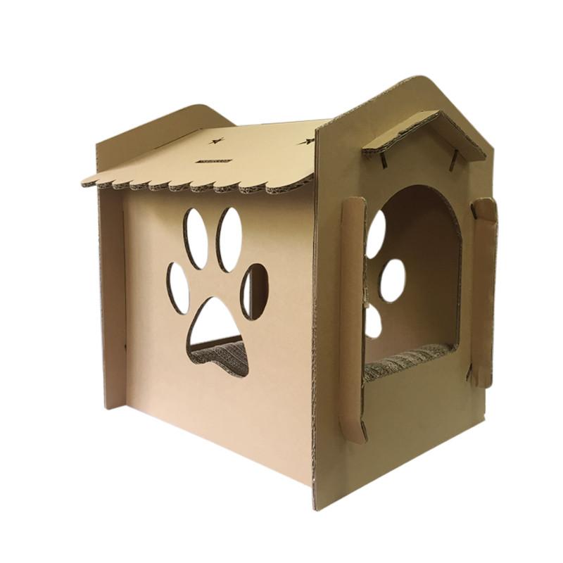 瓦楞纸猫屋猫窝猫房子猫玩具猫咪磨爪硬纸板猫纸箱环保猫窝猫抓板