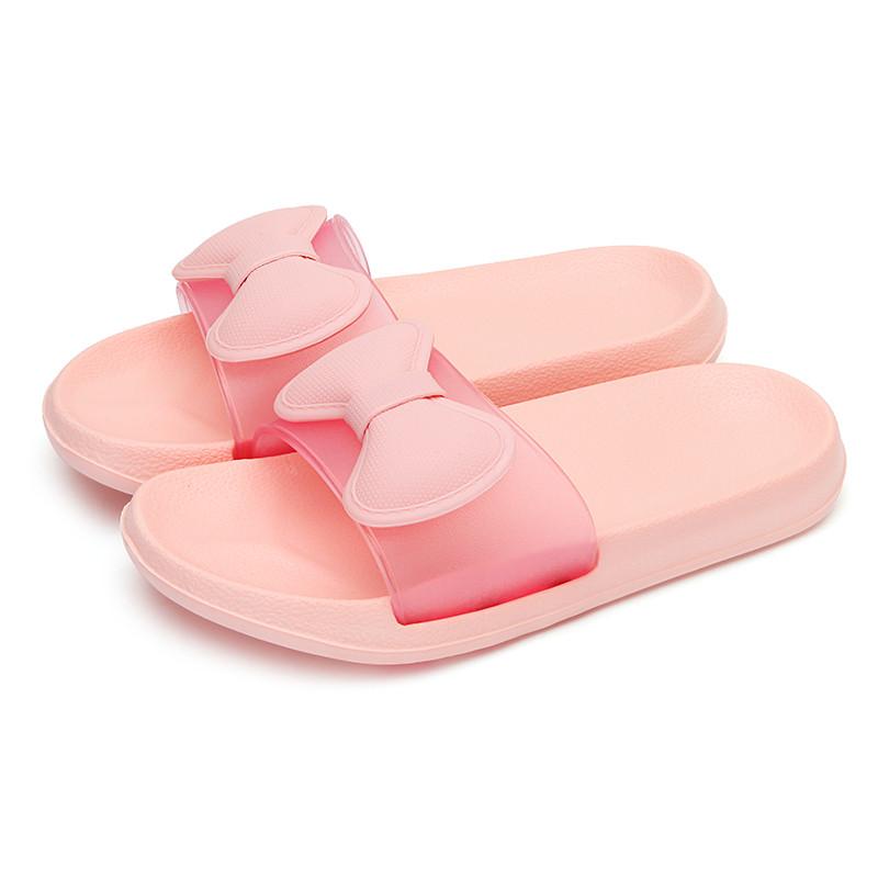 朴西 无味浴室拖鞋 女士夏天家居室内洗澡拖鞋可爱软底居家凉拖鞋