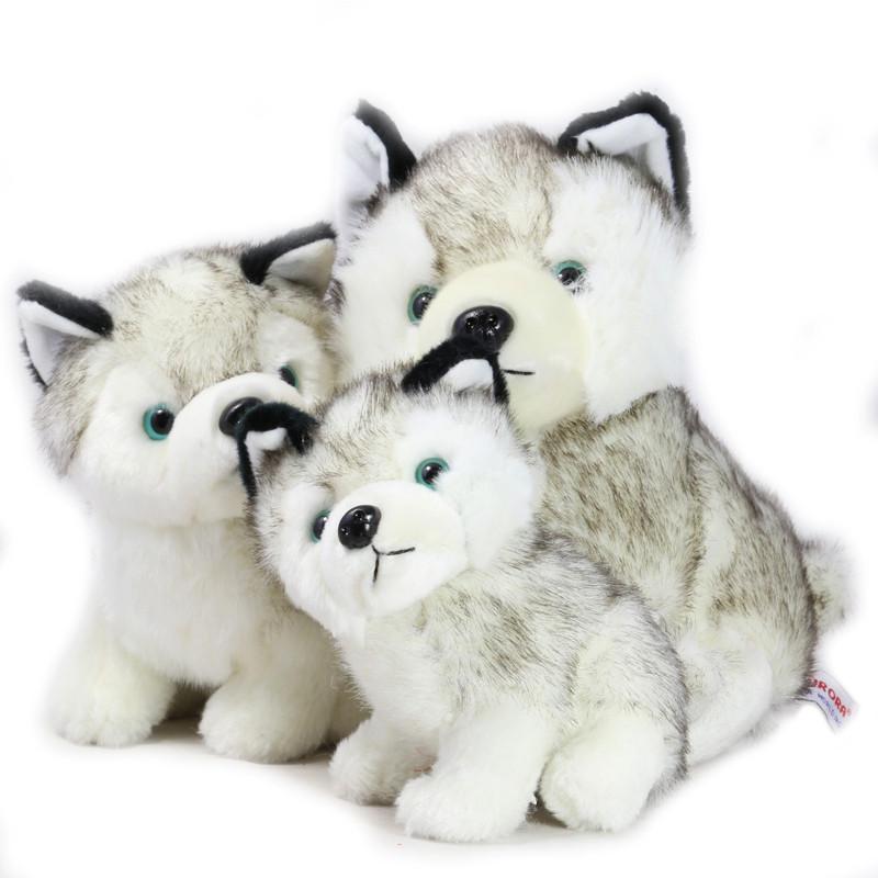 绎美 玩具礼品 可爱坐款仿真哈士奇毛绒玩具 毛绒玩具哈士奇小狗狗