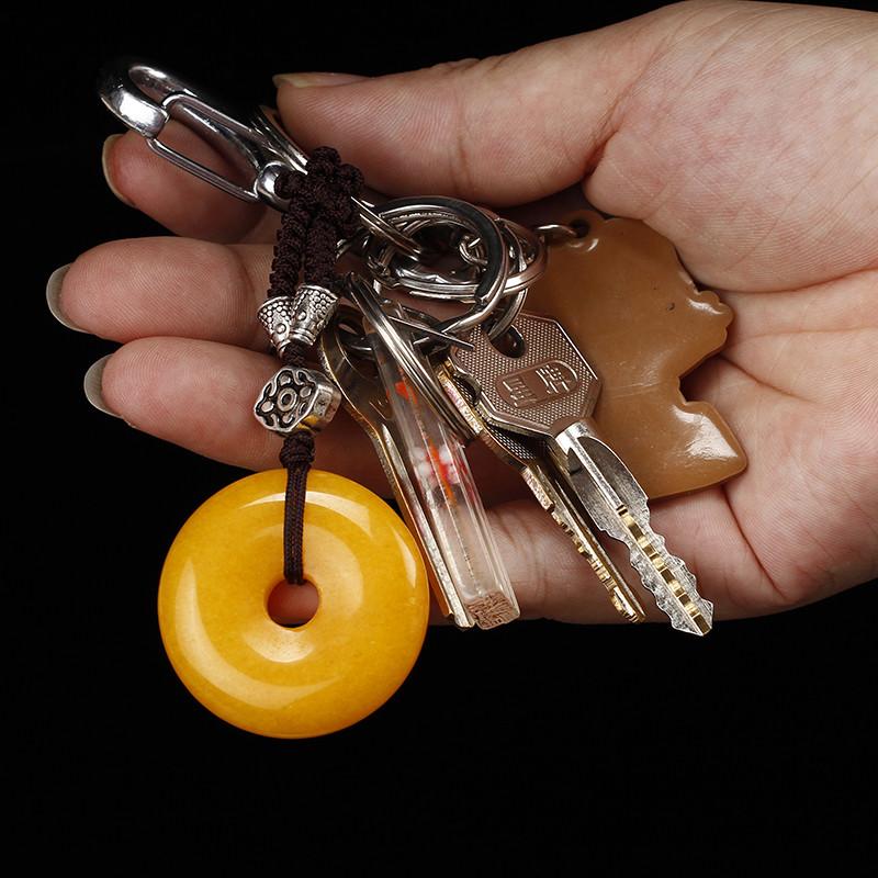 手工创意平安扣钥匙扣大全包挂饰多彩汽车钥匙挂件男女情侣钥匙链 h款
