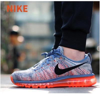 耐克男鞋fly knit air max全掌彩虹气垫跑步鞋620469图片