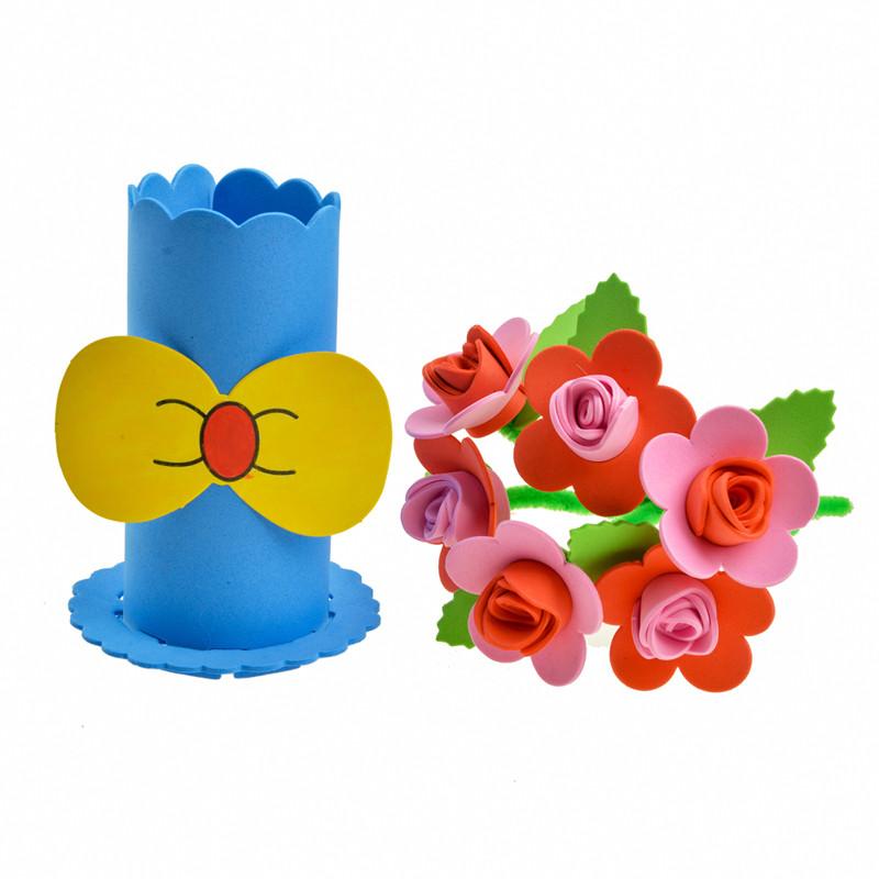 盆栽 手工花朵 节日花篮 不织布大丽菊