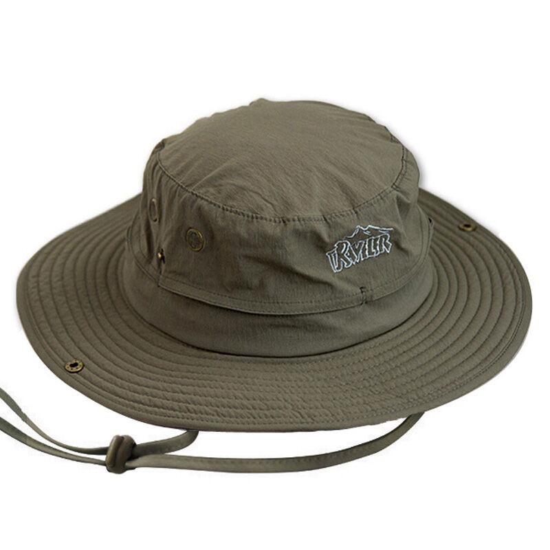 户外帽子男女士夏户外渔夫帽遮阳帽防晒大檐帽速干透气登山钓鱼帽