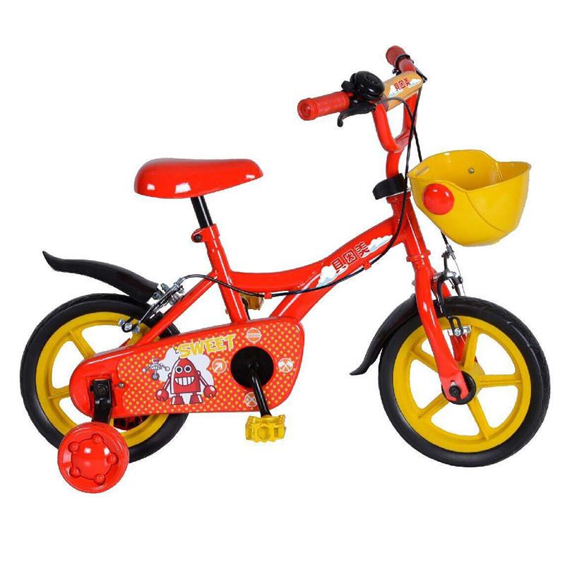 贝因美12寸儿童自行车 (红) 赠高清实拍图