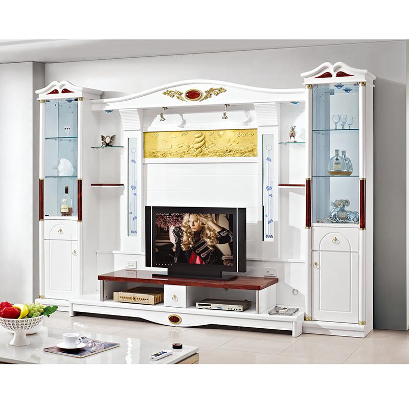 伊莱菲尔 欧式电视柜组合背景墙柜 现代客厅影视墙柜地柜酒柜组合柜 3