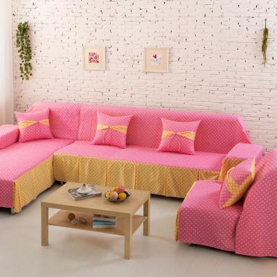 夹棉加厚防滑沙发垫田园布艺简约现代欧式老式皮沙发