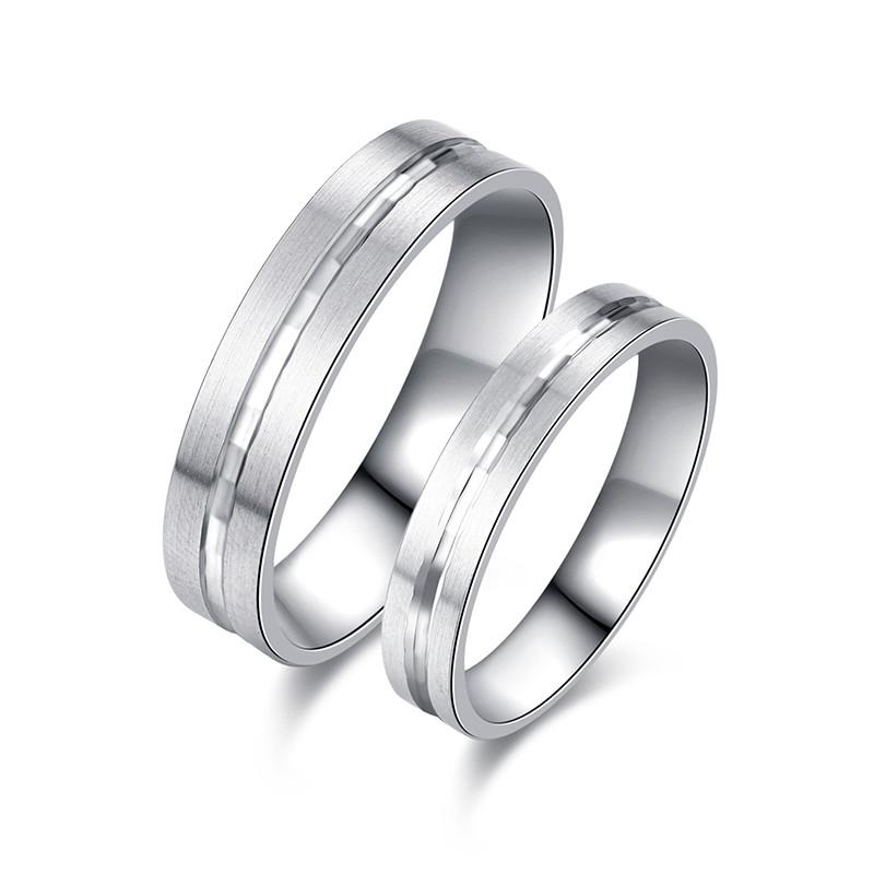 光圈 铂金pt950戒指男女款戒指 光面铂金戒指情侣对戒时尚质感指环 男