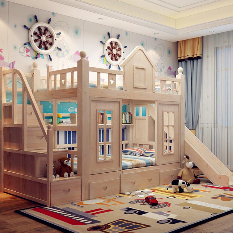 【美夢居系列】美夢居 實木松木兒童床 上下床鋪 雙層