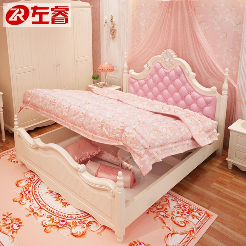韩式公主床欧式床女孩粉色床田园