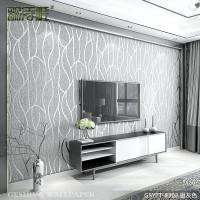 歌诗雅3d立体客厅电视背景墙壁纸卧室无纺布条纹现代简约影视墙纸 gsy