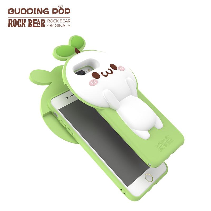 rock洛克iphone7/7plus苹果手机壳长草颜团子经典硅胶保护壳套 iphone