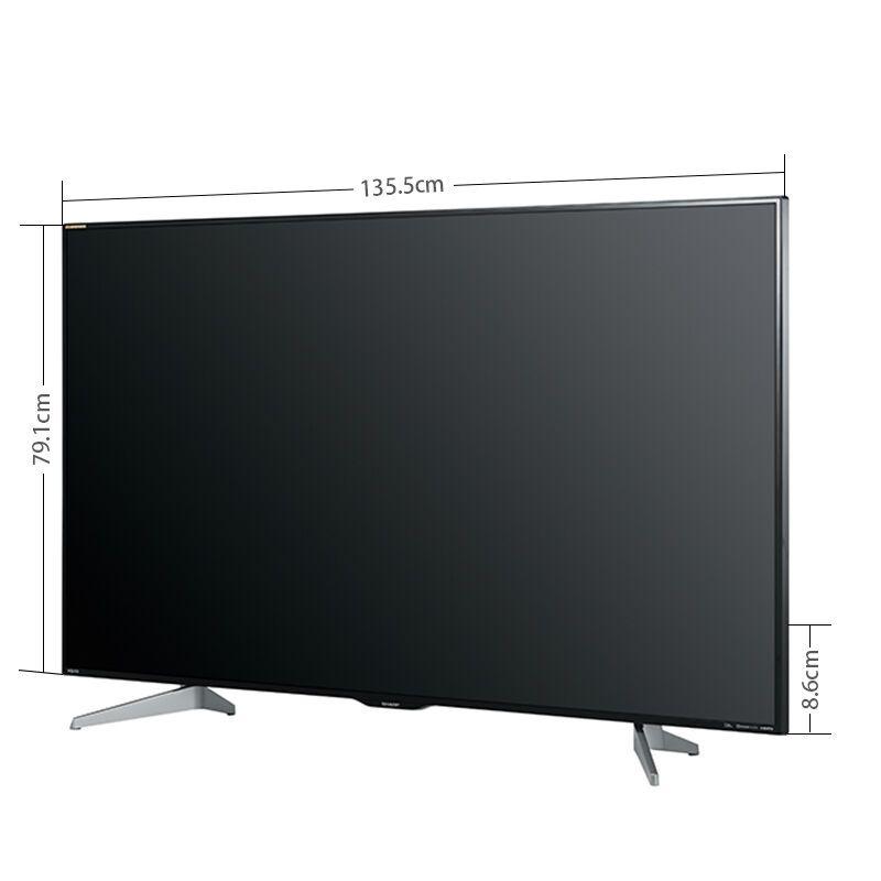 夏普(sharp)60英寸led智能液晶4k平板电视机lcd-60su465a高清实拍图
