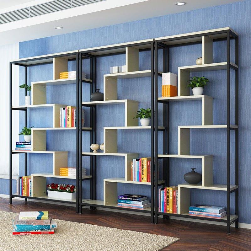 淮木(huaimu) 简易货架书架客厅书柜博古架置物架隔断造型架子展示柜