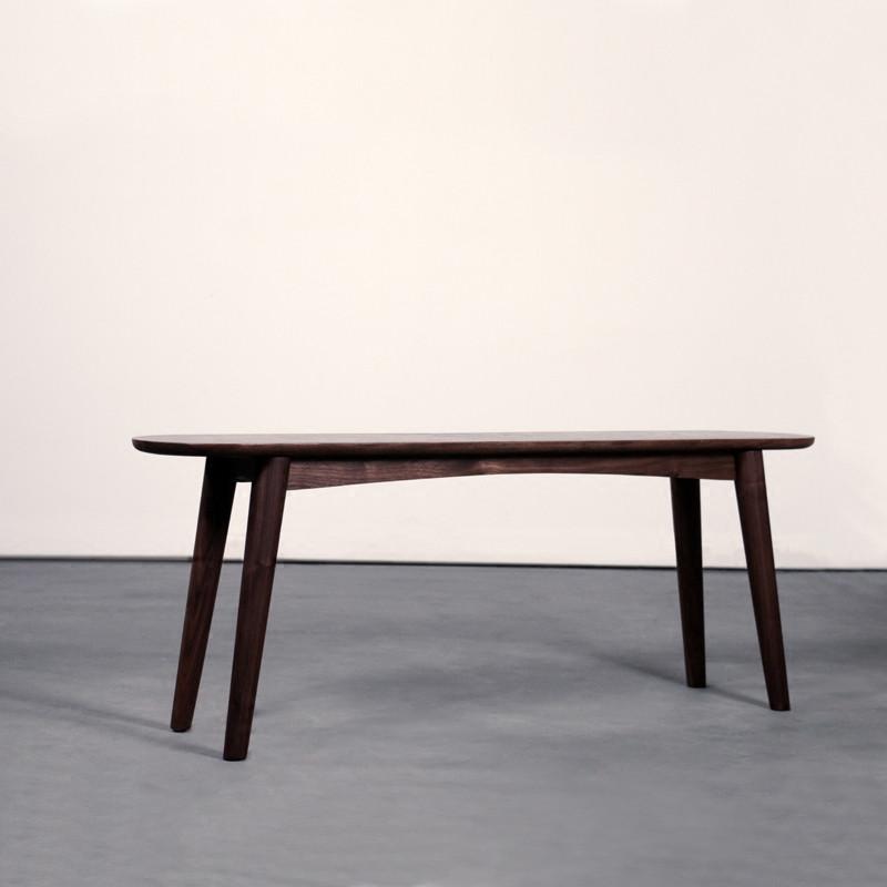 淮木(huaimu)北欧原木床尾凳/换鞋凳黑胡桃橡木实木长凳 红橡木1350