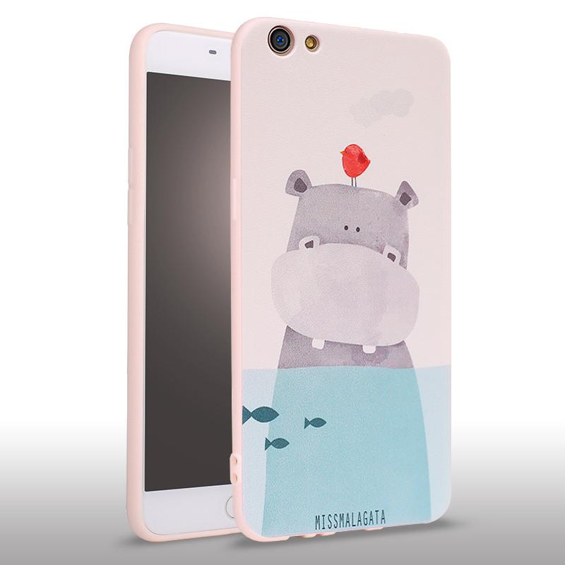 手机壳 女款可爱卡通防摔全包a57m个性创意日韩国硅胶a57 a57深海小熊