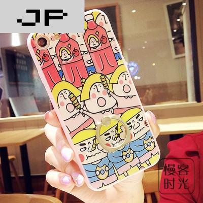 jp潮流品牌韩国可爱吃货iphone7手机壳苹果7plus支架软胶全包6s指环6