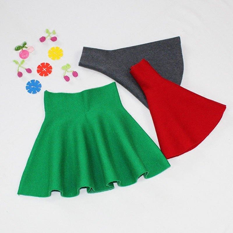 2017新款春季女童短裙款儿童针织半身裙百褶高腰宝宝蓬蓬裙中大童裙子