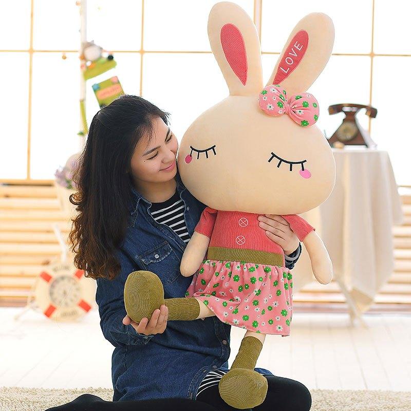 【萌穗系列】男女宝宝玩具可爱卡通大兔子儿童毛绒布.