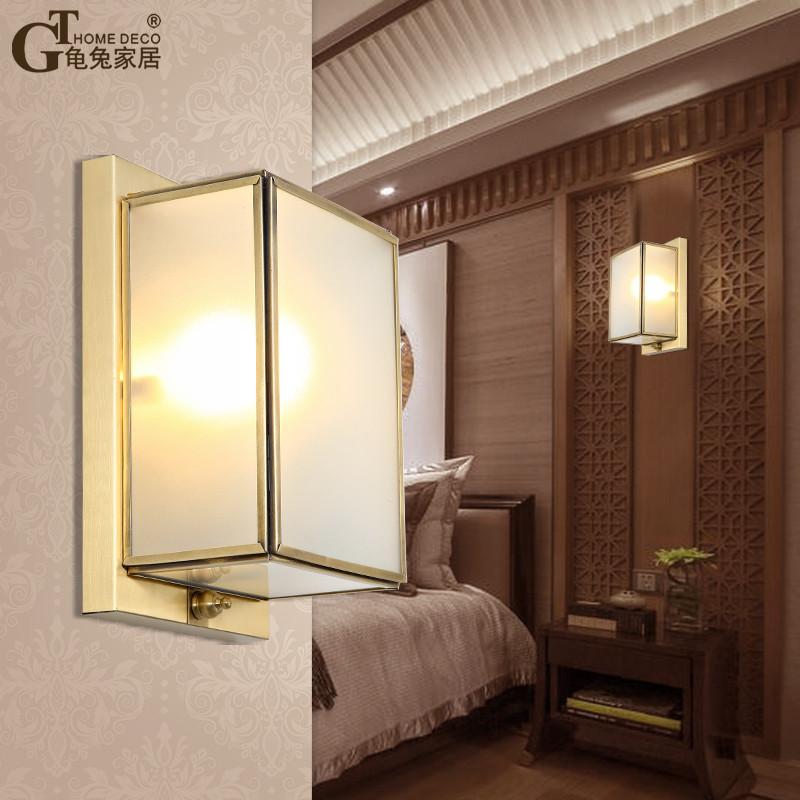 龟兔 新中式卧室床头灯全铜壁灯客厅现代简约美式过道阳台酒店户外墙图片