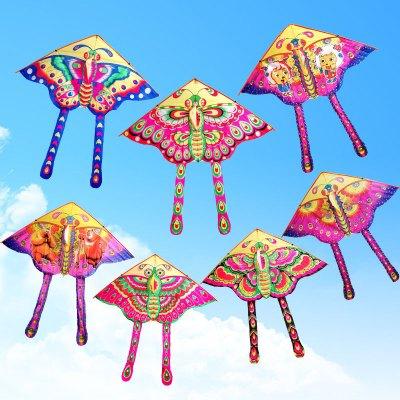 3米蝴蝶风筝 儿童风筝 卡通风筝 三角风筝 好飞