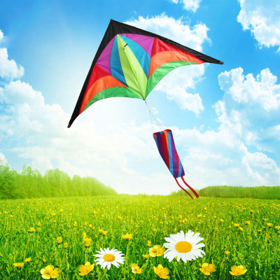 三角形风筝儿童画