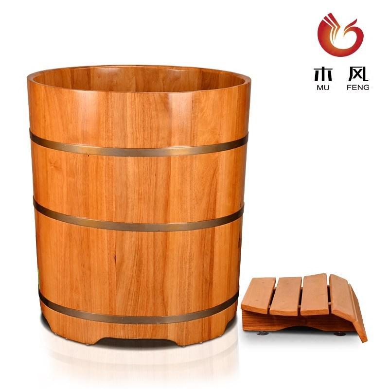 木风洗澡桶成人浴缸圆形木桶浴桶泡澡桶实木沐浴桶家用泡浴洗澡盆